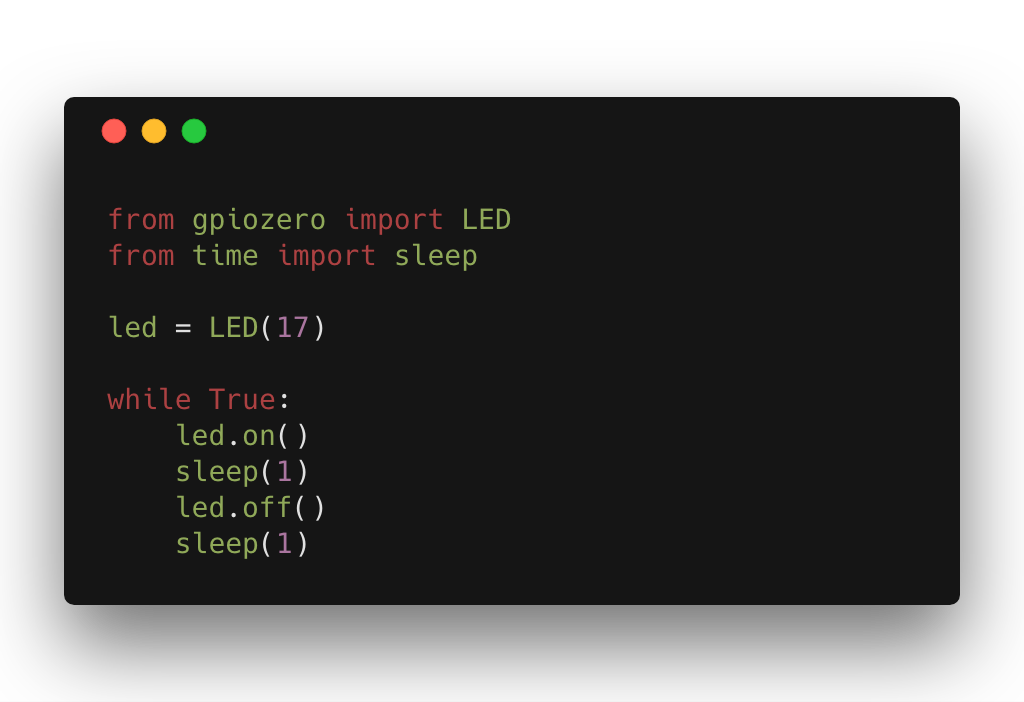 Lighting an LED using Python